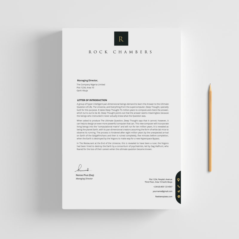letterhead - fleek templates