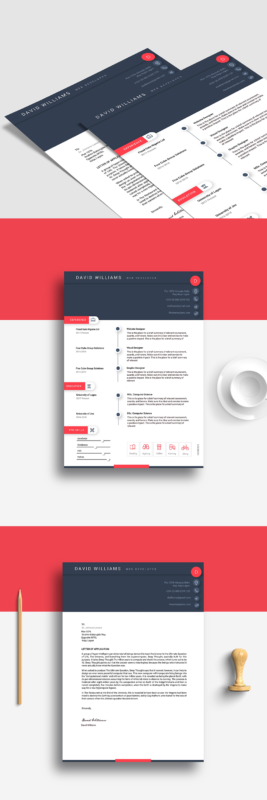 Material Design Resume In Ms Word  Fleek Templates Free Microsoft