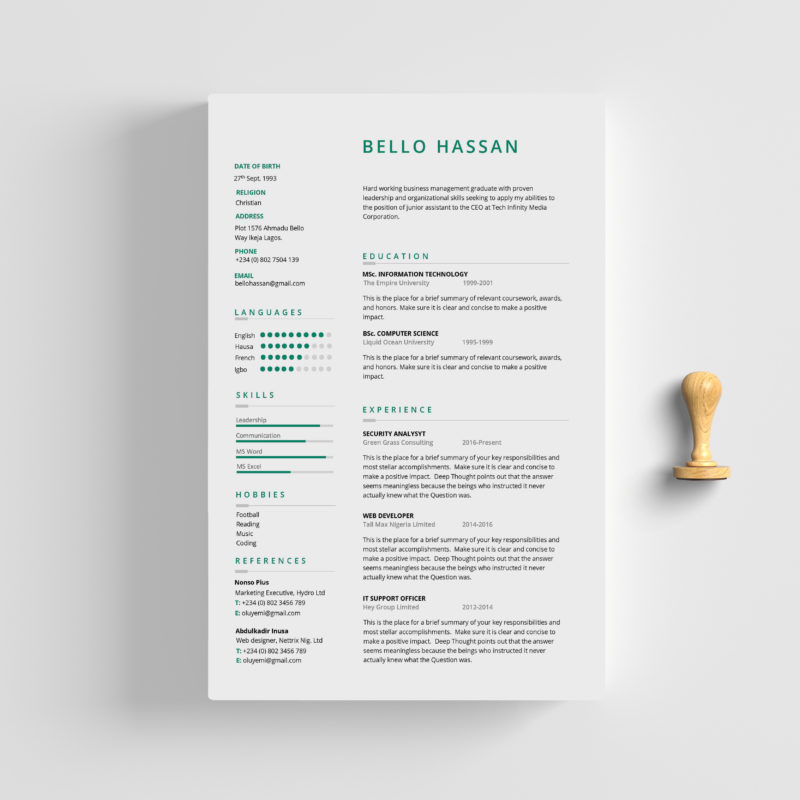 This MS Word CV Resume Template Is Made In Microsoft Highly Organized So Every User Can Edit It Like A Pro Easily The Typography