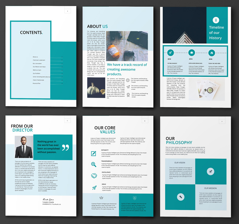 company profile - fleek templates