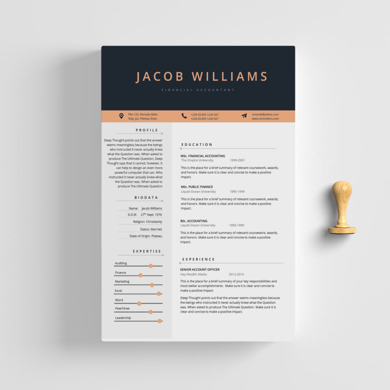 2-page cv - fleek templates